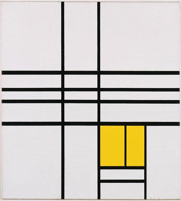 Piet Mondrian, Composition, 1936. Courte