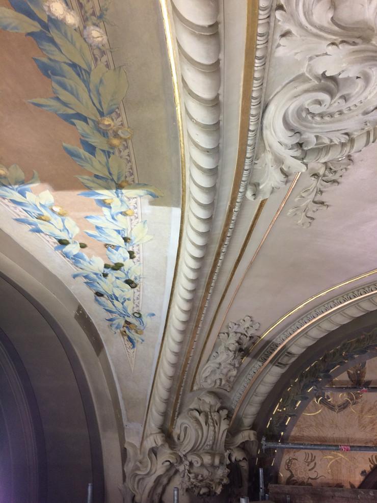 Restauration des peintures de la salle des délibérations de la préfecture de Limoges