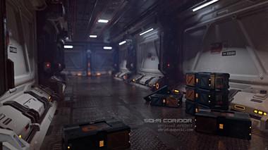 sci-fi coridor
