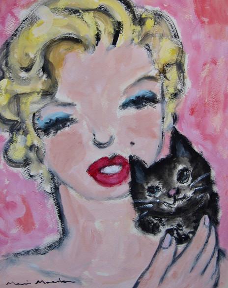 マリリン・モンローと猫