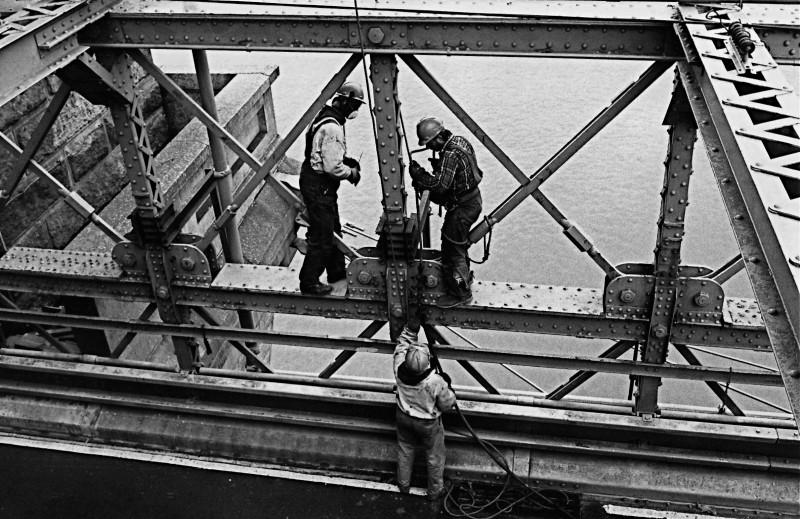 橋梁の工事人たち (ニューヨーク)