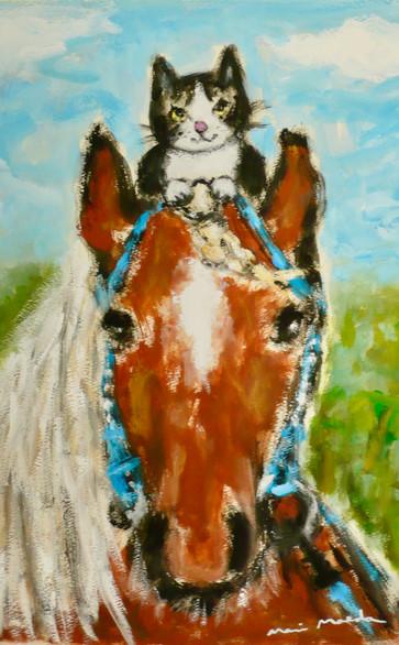 ばんば馬と猫