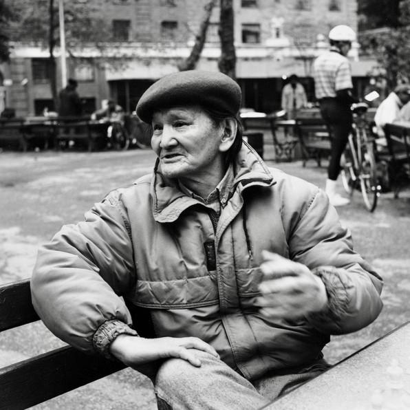 チェス台にいた日本人画家 (ニューヨーク)