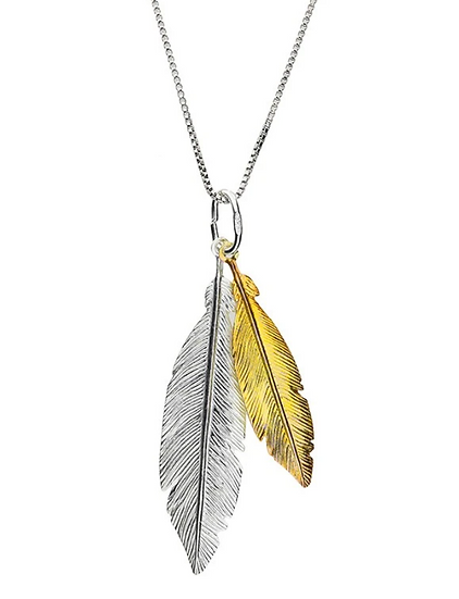 Azendi feather necklace
