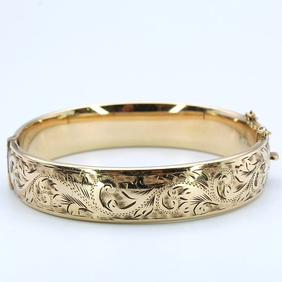 Rolled gold detailed bangle