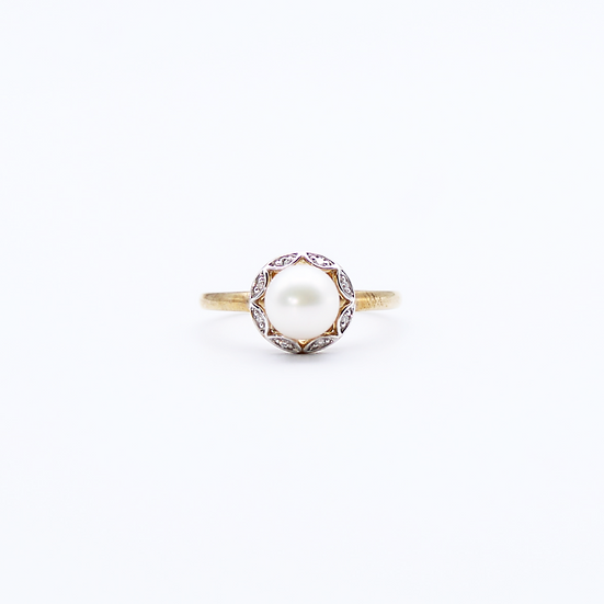Pearl and Diamond dress ring