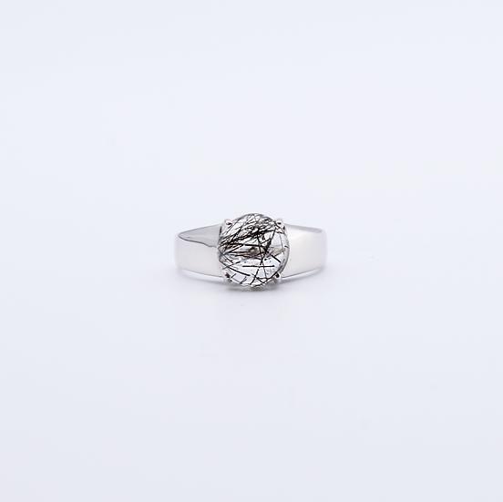 Rutilated quartz dress ring