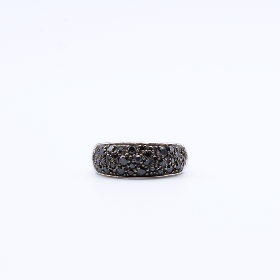 Black cubic zirconia dress ring