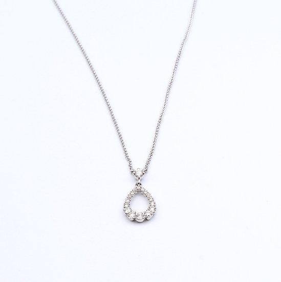 Diamond pear drop necklace