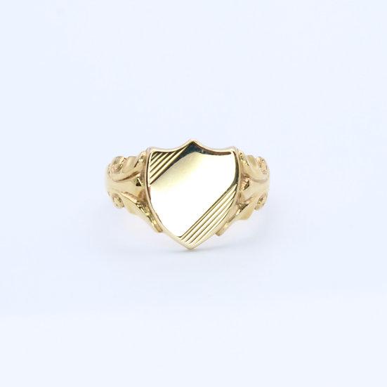 Shield signet ring