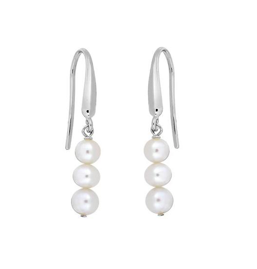 Azendi pearl drop earrings