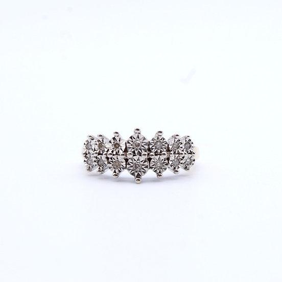 Diamond illusion set ring