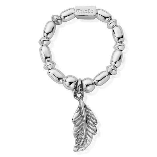 ChloBo feather stretch ring