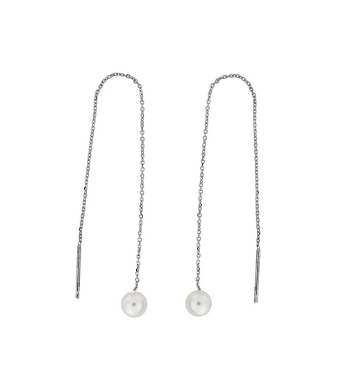 Azendi pearl threader earrings