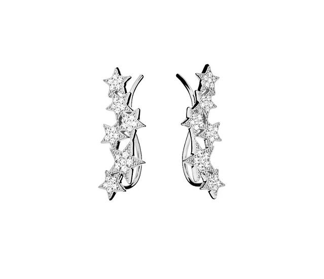 Azendi star ear climber earrings