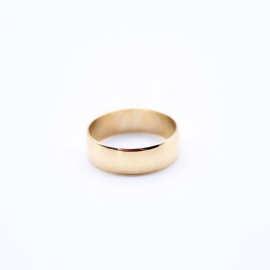Plain gold wedding band