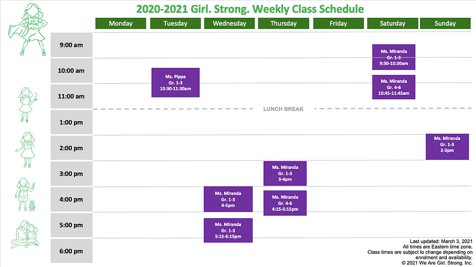 Schedule Girl.Strong_