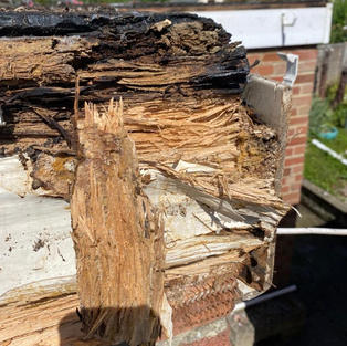 Replacing leaking and rotten flat roofs