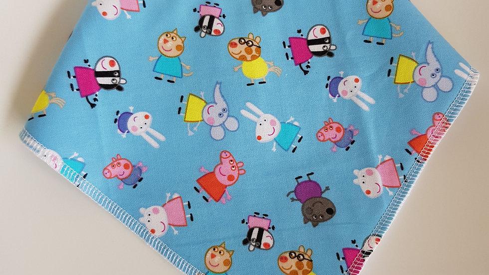 Peppa Pig characters bib Blue