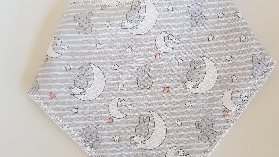 Bunnys & Moons Bib grey