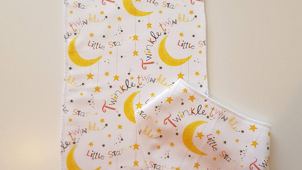 Bib & burp cloth set - twinkle star
