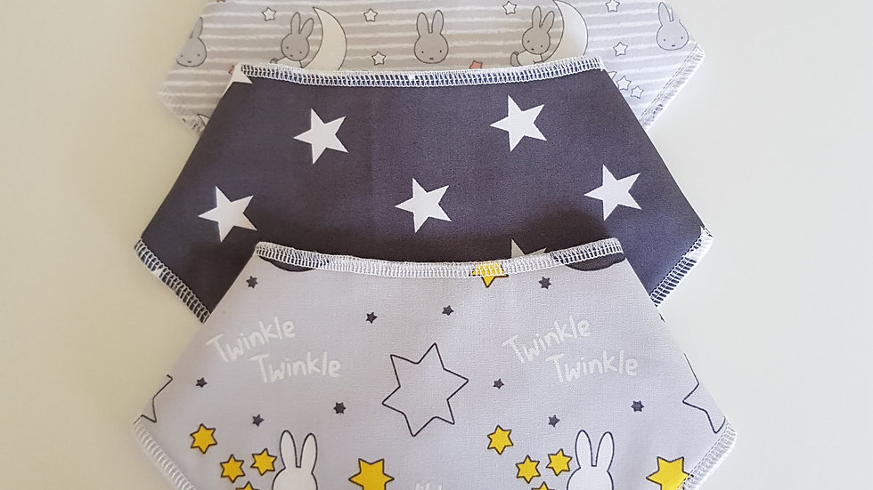 Newborn 4 Bib Set - Grey