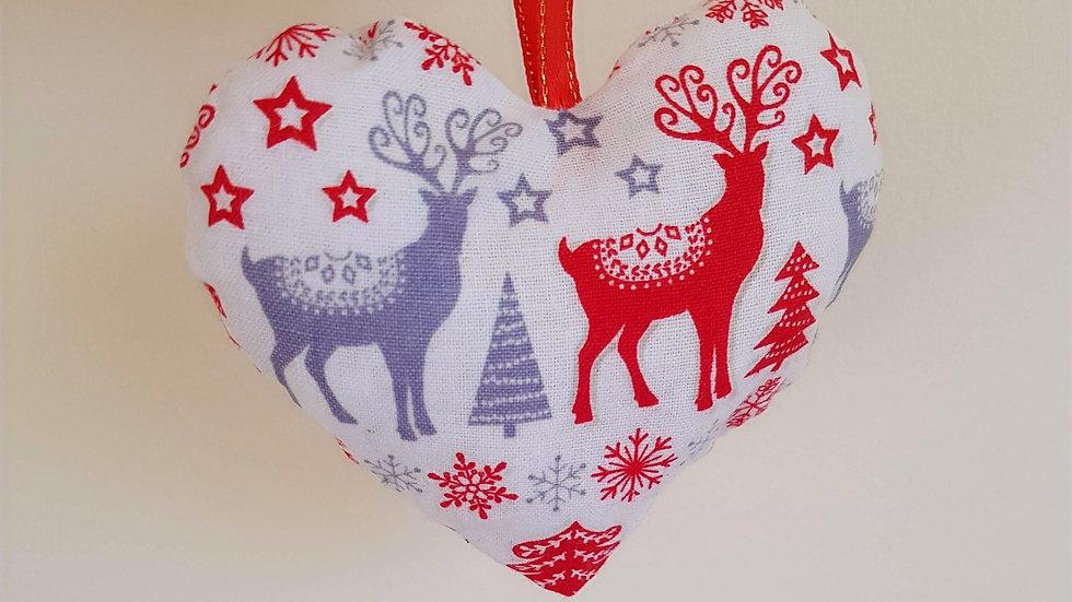 Rudolph heart decoration