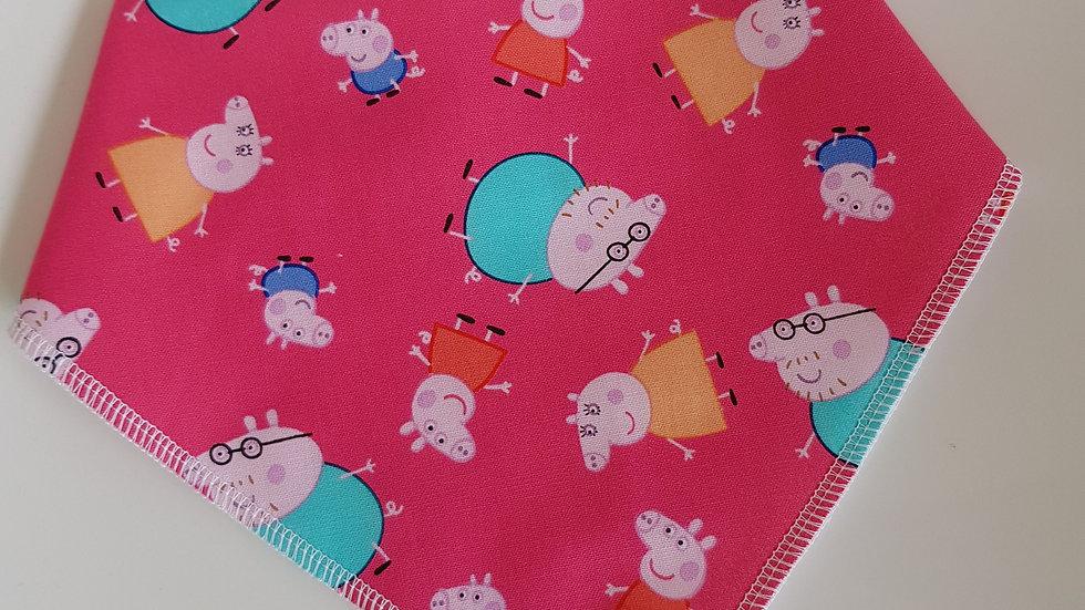 Peppa Pig Family bib Pink