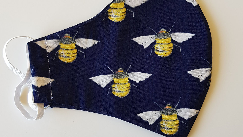 Bee print Fitted Mask