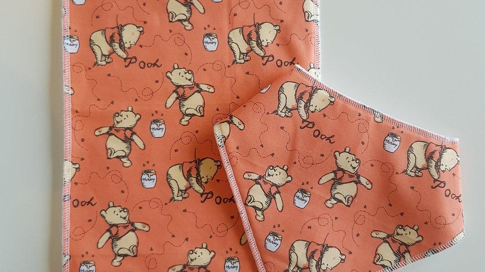 Baby Bib & burp cloth set - winnie the pooh