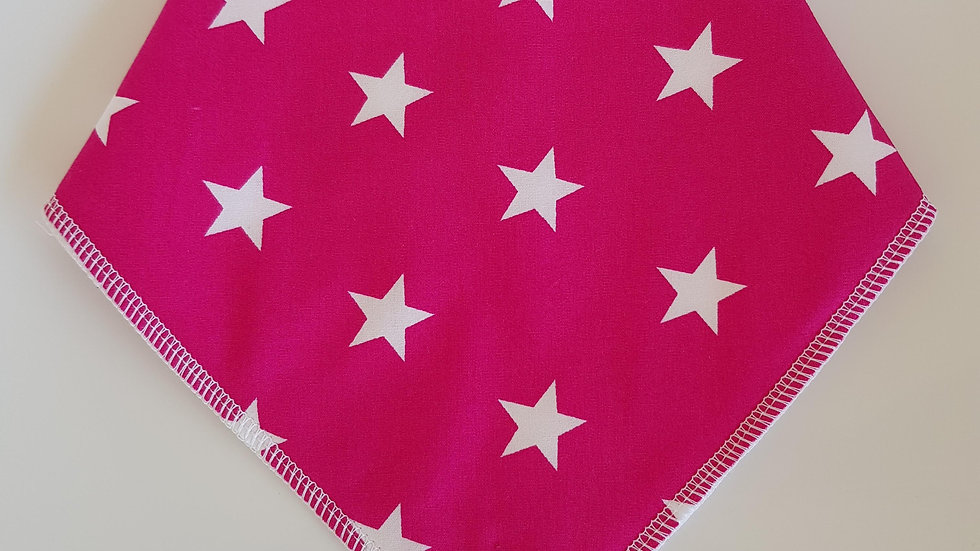 Fuschia Pink Stars Bib