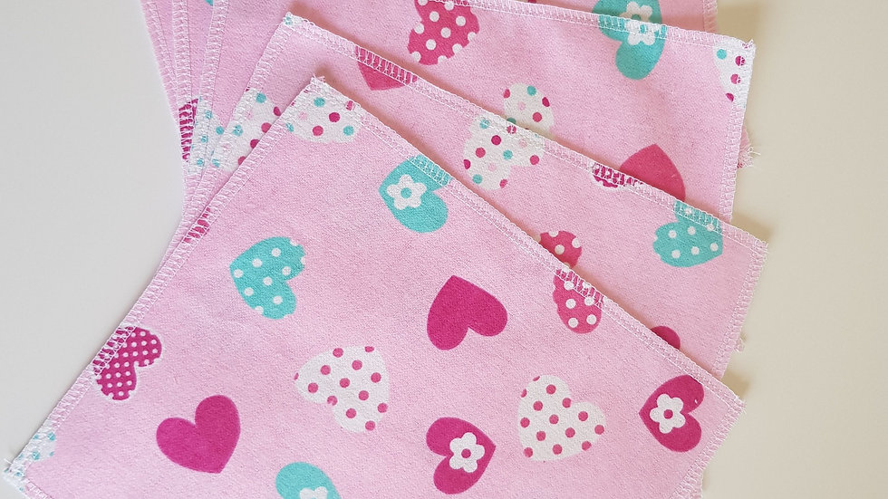 Flannel Wipes Pink