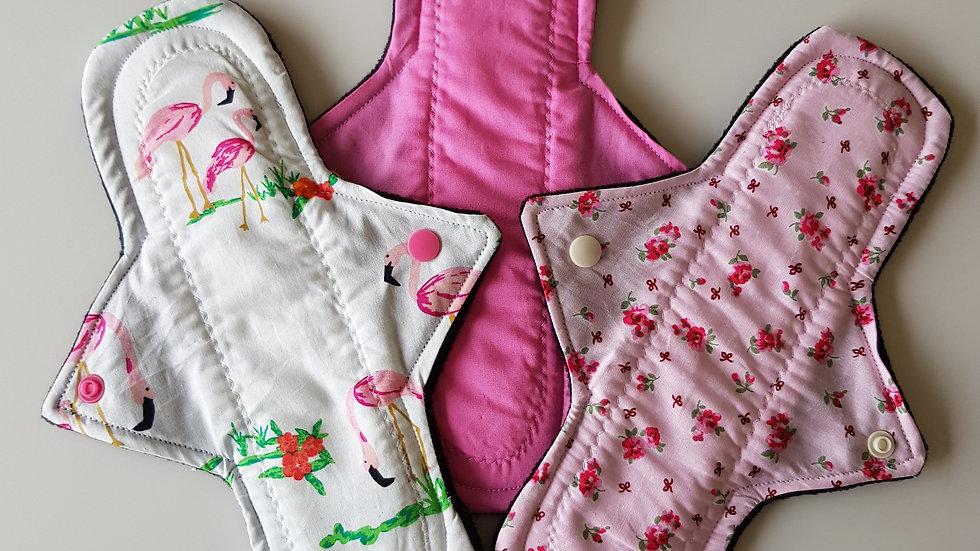Pink Ladies 3 pack Feminine Pads - medium/normal flow