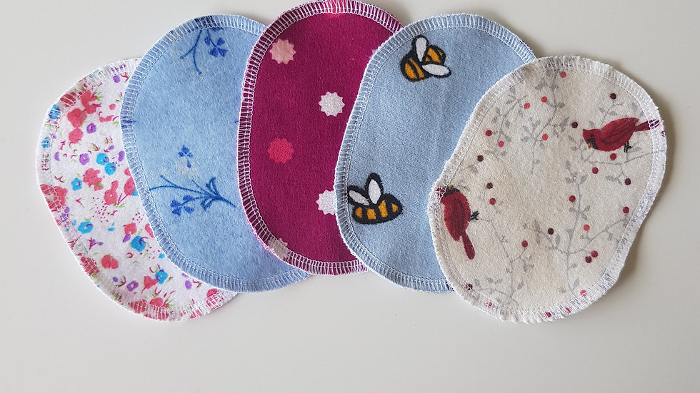 Facial cleansing pads (flannel)