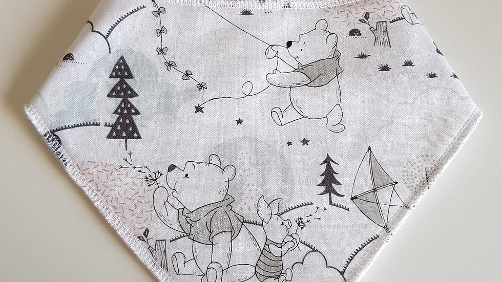 Pooh bib grey