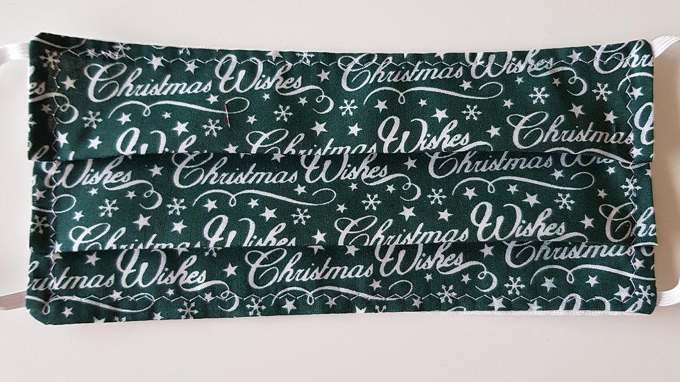 Christmas Barrier Mask - green
