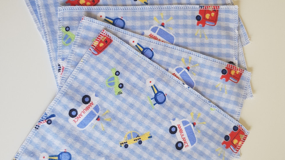 Flannel Wipes Blue