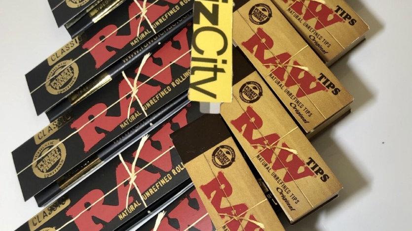 RAW Black Kingsize + RAW Regular Tips