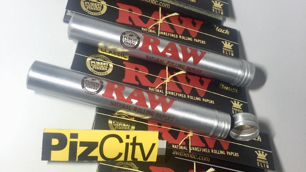 RAW Black Kingsize Papers + 2 RAW Tubes
