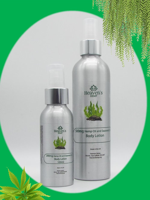 Hemp oil and Seaweed Body Lotion 250ml and 100ml