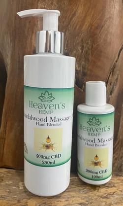 Sandalwood Massage Oil with CBD
