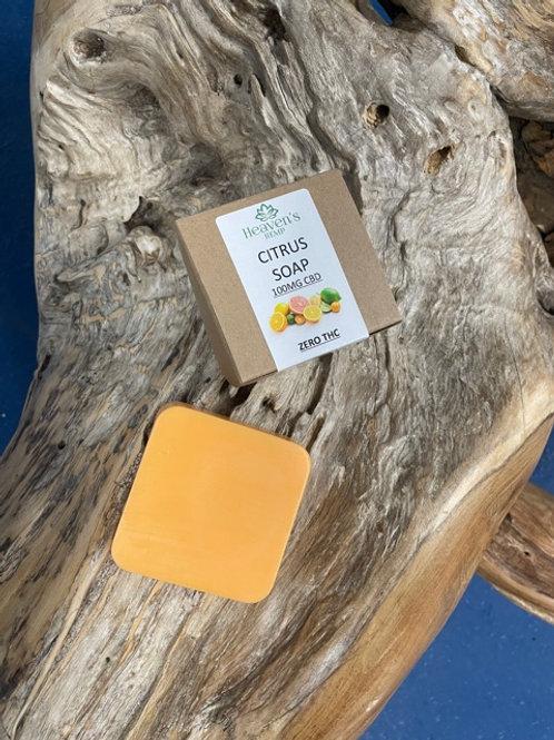 Citrus Soap With 100mg CBD ZERO THC