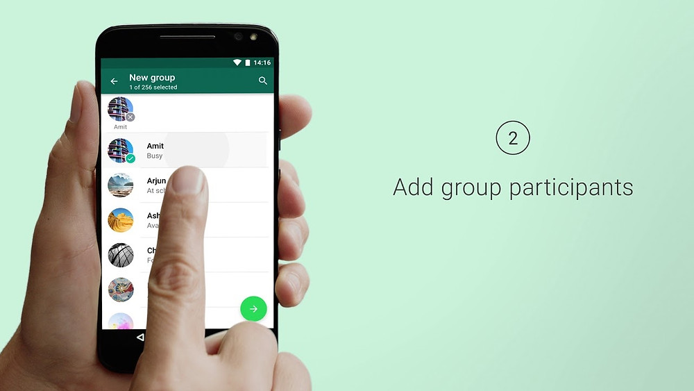 Adding Group Participants WhatsApp