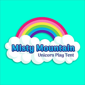 Misty Mountain Unicorn Play Tent Logo by Lauren Aldrich