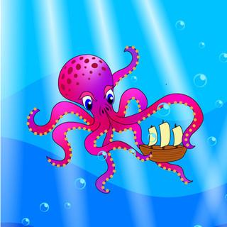 Under the Sea Tent Illustration Tile
