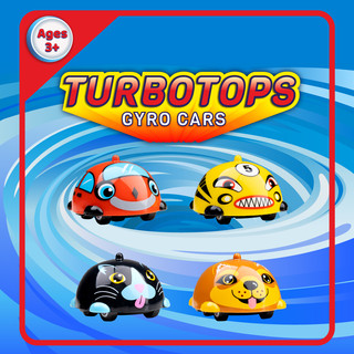 Turbo Tops Spinning Gyro Cars, designed by Lauren Aldrich