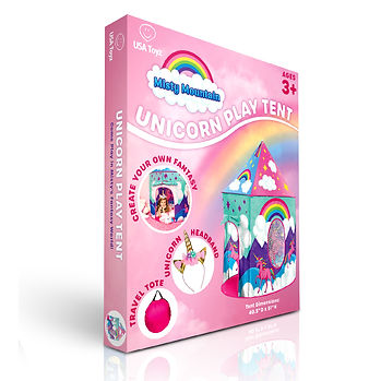 Unicorn Play Tent Box Render by Lauren Aldrich