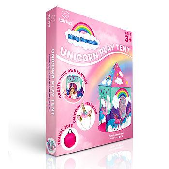 Unicorn Play Tent Box Render by Lauren Aldrich