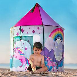 Unicorn Tent Photo Composite by Lauren Aldrich