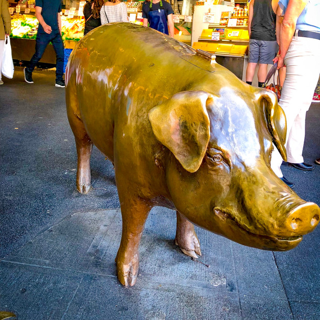 """Rachel the Piggybank"" the mascot of the Pike Place Market"
